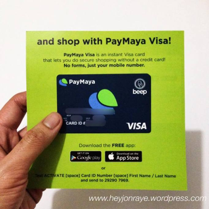 PayMaya: The PREPAID VISA (REVIEW Part 1: THE BASICS